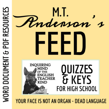 Feed by M.T. Anderson - Quiz (Pages 1-59)
