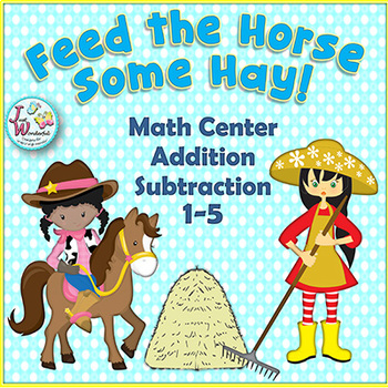 Addition Subtraction Math Game and Math Center Activity