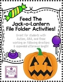 Feed the Jack-o-Lantern File Folder Activities: Great for