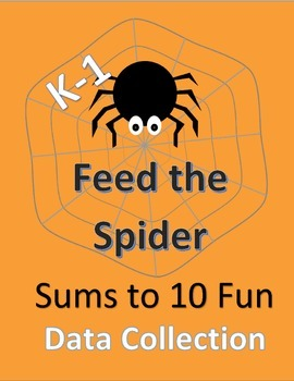 Feed the Spider--Sums to 10; Includes data collection shee