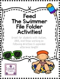 Feed the Swimmer File Folder: Great for ABA, following dir