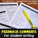 Feedback Comments for Student Writing