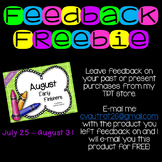 Feedback Freebie Offer