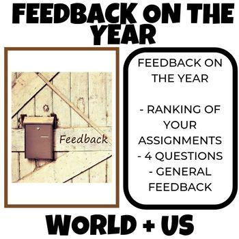 Feedback on the year World History + US History