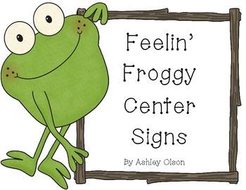 Feelin' Froggy Center Signs