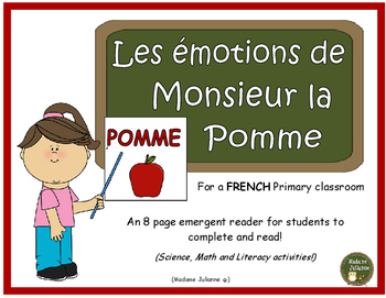 FRENCH Apple-themed emergent reader (les pommes - cycle de