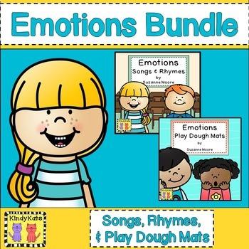 Emotions BUNDLE: Songs & Rhymes, Circle Time, Play Dough Mats