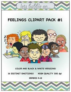 Feelings Clipart Pack #1