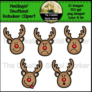 Feelings / Emotions Reindeer Clipart