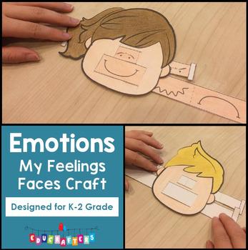 Feelings Faces Craft FREEBIE - Emotions