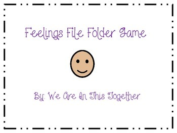 Feelings File Folder Game - Matching (Autism)