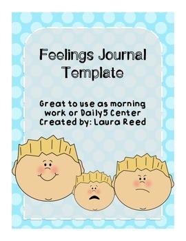 Feelings Journal Activity