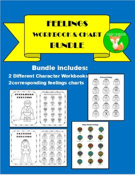 Feelings Workbook and Feelings Chart Bundle