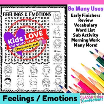 Feelings and Emotions Word Search