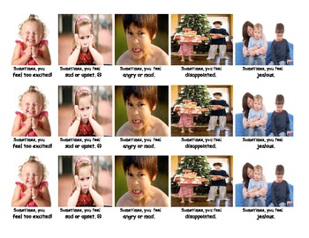 Feelings and emotions: visual and vocabulary work