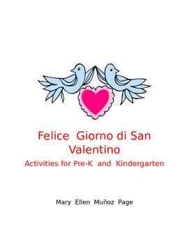 Felice Giorno di San Valentino Pre-K and K
