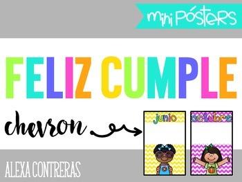 Feliz Cumple {Birthdays Mini Posters and Banner} Chevron