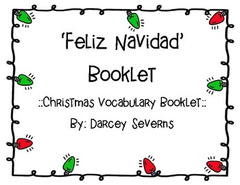 Feliz Navidad Vocabulary Booklet