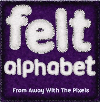 Felt Effect Alphabet and Numbers, Upper and Lower Case - C