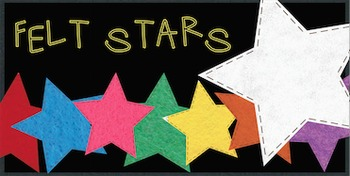 Felt Stars Freebie! {For Personal and Commercial Use!}
