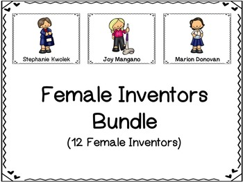 Female Inventors Graphic Organizer Bundle