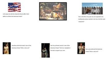Fences American Dream Graphic Organizer