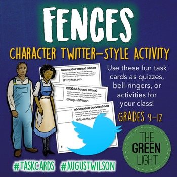 Fences by August Wilson Twitter-Style Task Cards: Bell-Rin