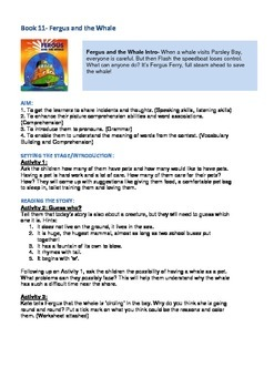 Fergus Ferry Book Lesson Plans For Book 11 Fergus and the Whale