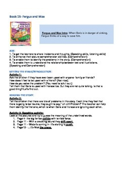 Fergus Ferry Book Lesson Plans For Book 15 Fergus and Max