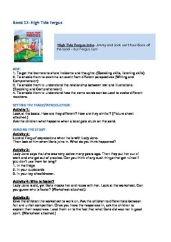 Fergus Ferry Book Lesson Plans For Book 17 High Tide Fergus