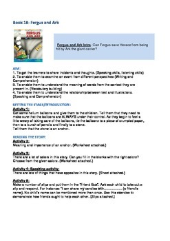 Fergus Ferry Book Lesson Plans For Book 18 Fergus and Ark