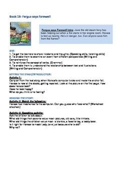 Fergus Ferry Book Lesson Plans For Book 19 Fergus says Farewell