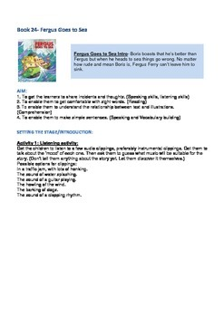Fergus Ferry Book Lesson Plans For Book 24 Fergus Goes To Sea