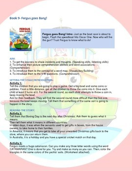 Fergus Ferry Book Lesson Plans For Book 9 Fergus goes Bang!