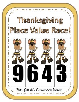 Thanksgiving Place Value Math Center Games