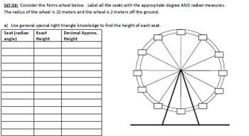 Ferris Wheel Investigation - Discovering Sine and Cosine Graphs