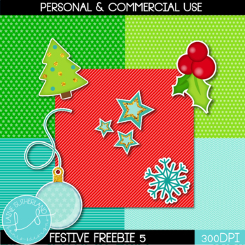 Festive Freebie #5 - Papers and stickers!