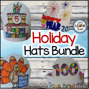Holidays Hats Bundle, Fun For Holiday Activities