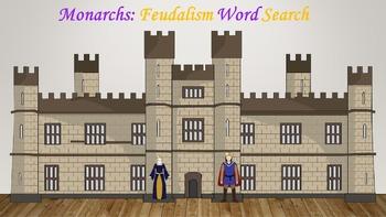 Monarchs: Feudalism Vocabulary Word Search