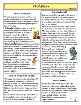 Printables Feudalism Worksheet feudalism worksheets davezan in the middle ages by lady lion teachers pay worksheet davezan