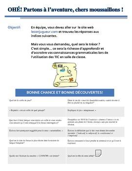 Feuillle d'activité pour le site www.leconjugueur.com