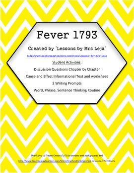 Fever 1793 - Student Activities