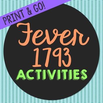 Fever 1793 by Laurie Halse Anderson Novel Unit Study Activ