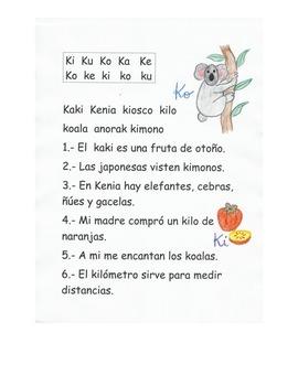 Lectura Letra K