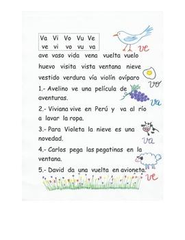 Lectura Letra V