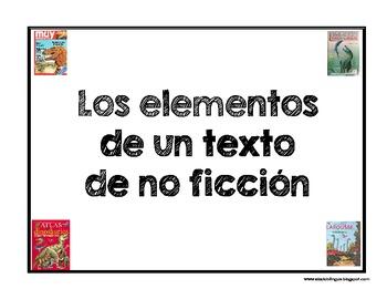 Fichas de los elementos de un texto de no ficción
