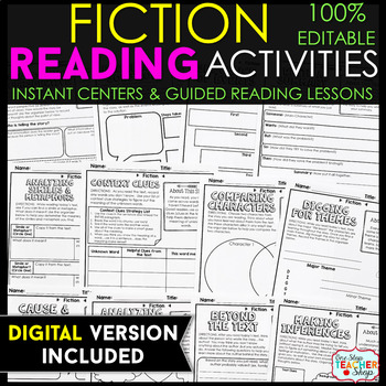 Fiction Reading Centers - Graphic Organizers for Reading