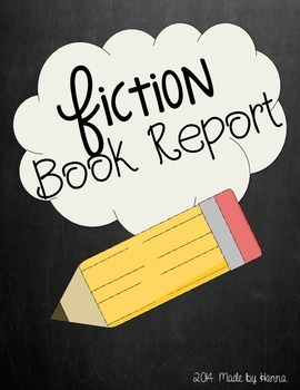 Fiction Book Report (Elementary)