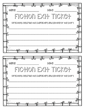 Fiction Exit Ticket