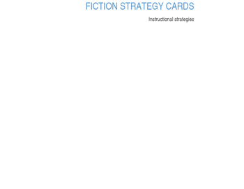Fiction Genre Strategy Cards
